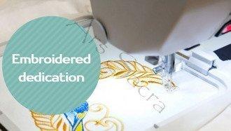 Embroidered dedication