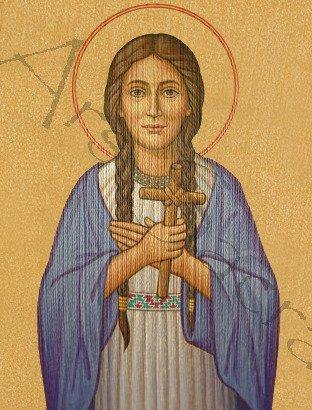 "Gothic Chasuble ""Saint Kateri Tekakwitha"" 429-G63g"