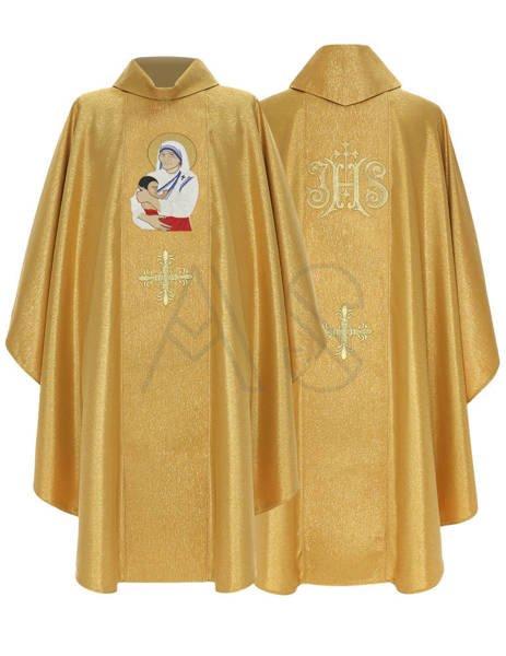 """Gothic Chasuble """"Saint Teresa of Calcutta"""" 433-G63g"""