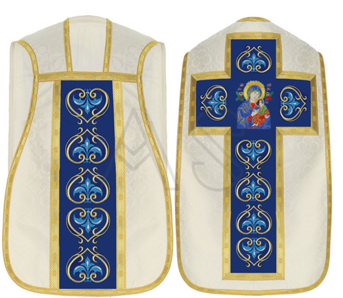 "Marian roman chasuble ""Our Lady of Perpetual Help"" R450-KN25"