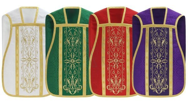 Set of 4 roman chasubles SET-RH1-25