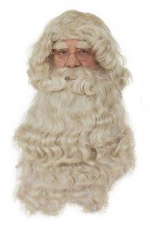 Perücke mit Bart des Weihnachtsmannes PER2