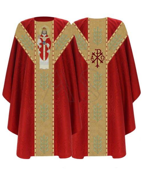 """Halbgotische Kasel """"Christus der König"""" GY466-C25"""