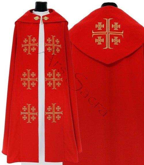"""Capa pluvial gótica """"Cruces de Jerusalén"""" K723-C"""